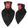 Skull Bandana Mask with Earloops - Red Reaper